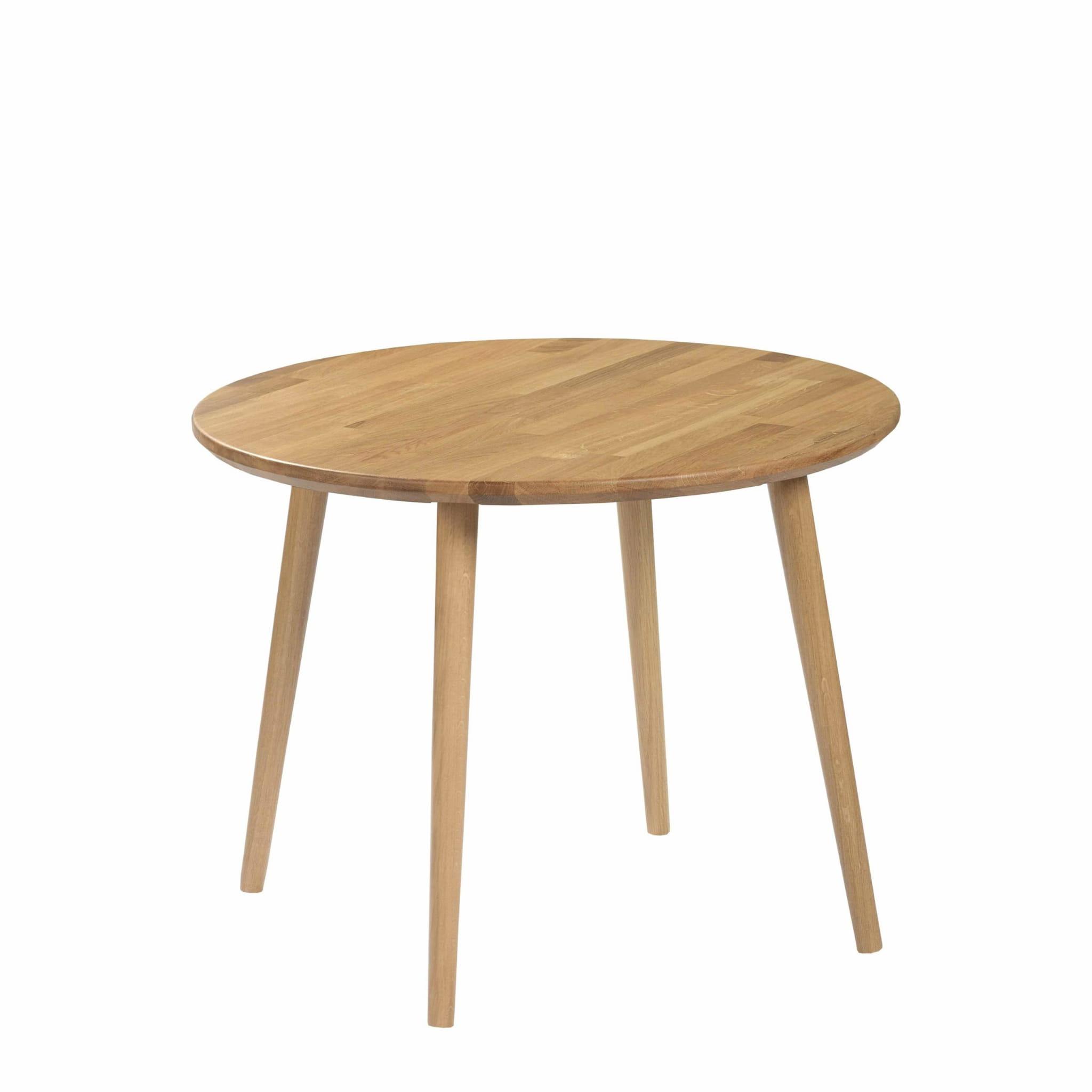 Moon Wood Stolik Okrągły Modern Oak śr. 70 dębowe nogi