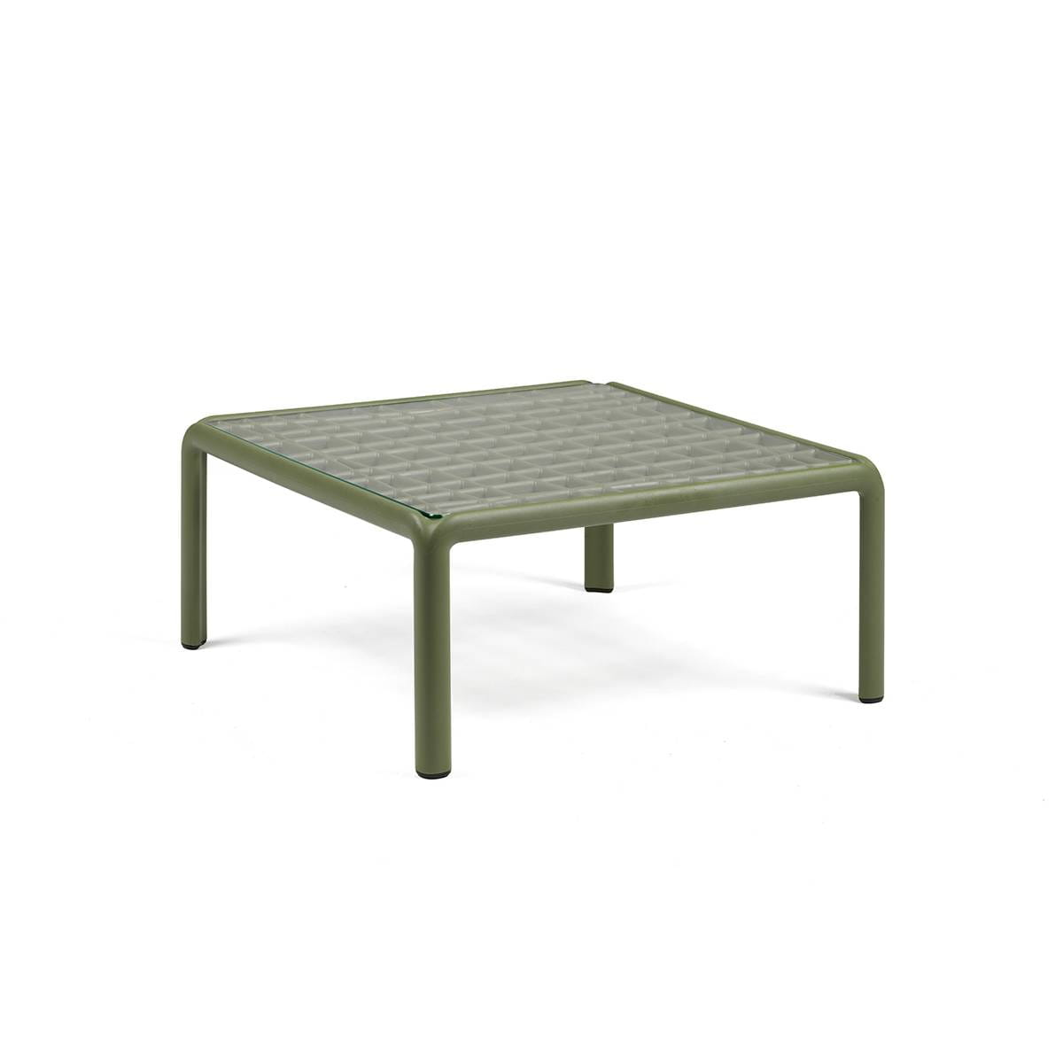 Nardi St贸艂 Komodo Tavolino Vetro zielony