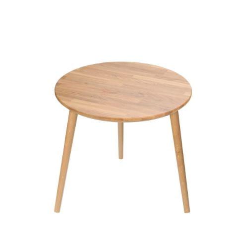 Moon Wood Stolik Okrągły Modern Oak śr. 60 dębowe nogi