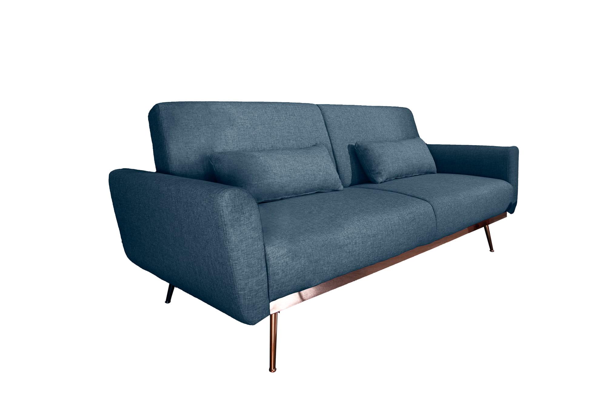 Sofa Sarini 208 cm niebieski