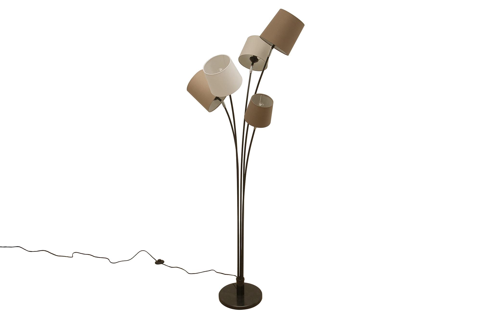 Lampa podłogowa Floor biało-brązowo-beżowa
