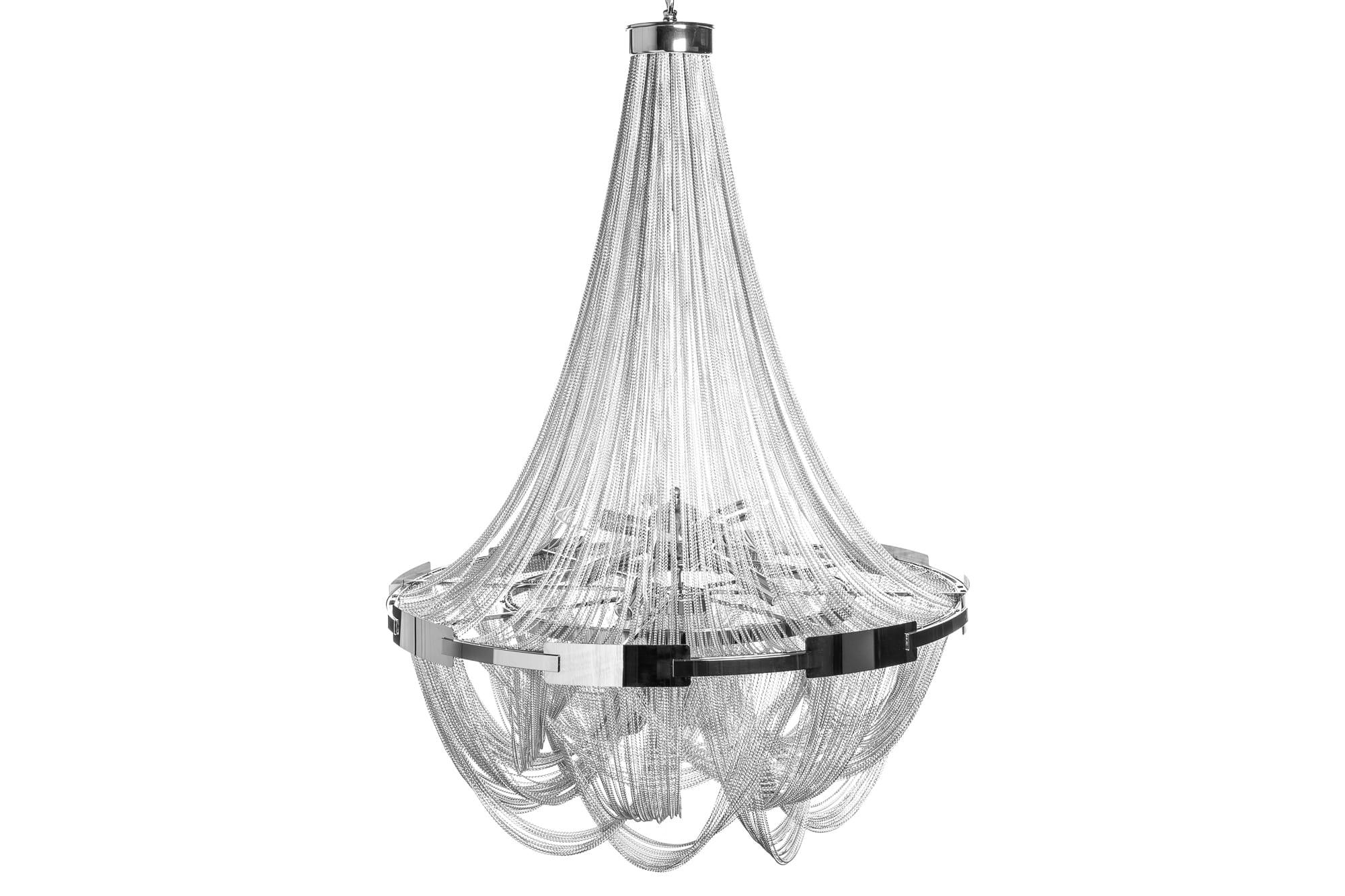 Lampa wiszÄ…ca Royal 70 cm srebrna