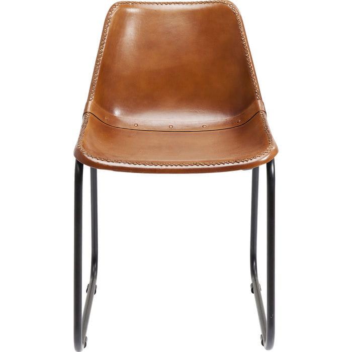 Kare Krzesło Vintage brązowe