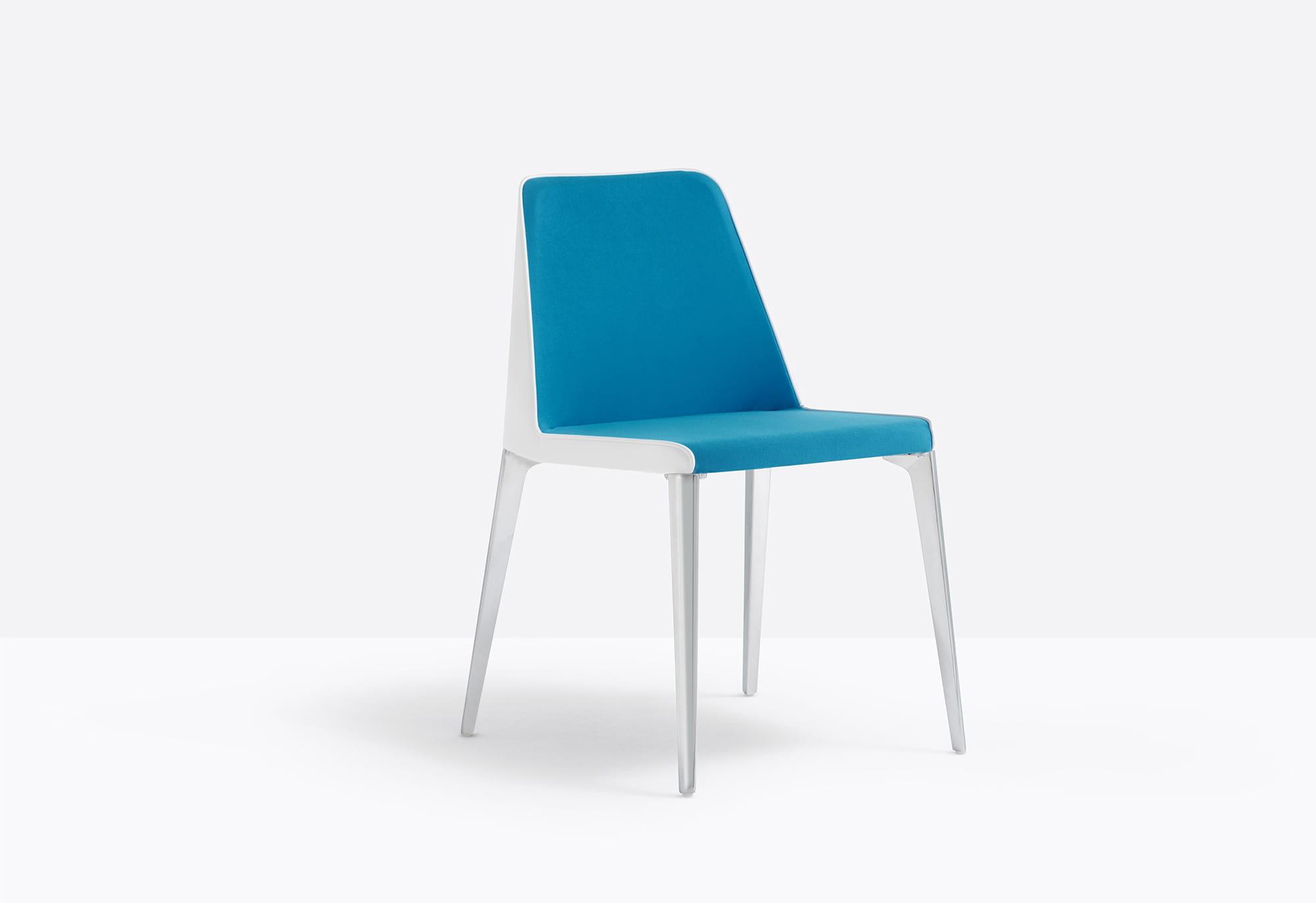 Pedrali Krzesło Laja 880 Biały-niebieski