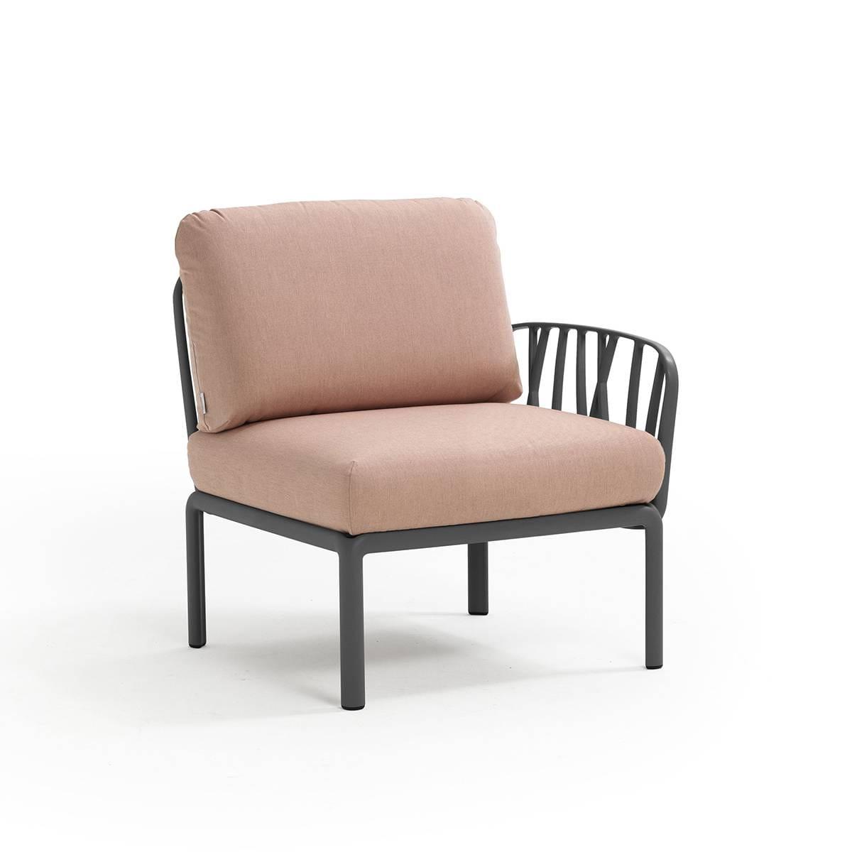 Nardi Sofa Komodo E. Terminale Antracyt-Rosa