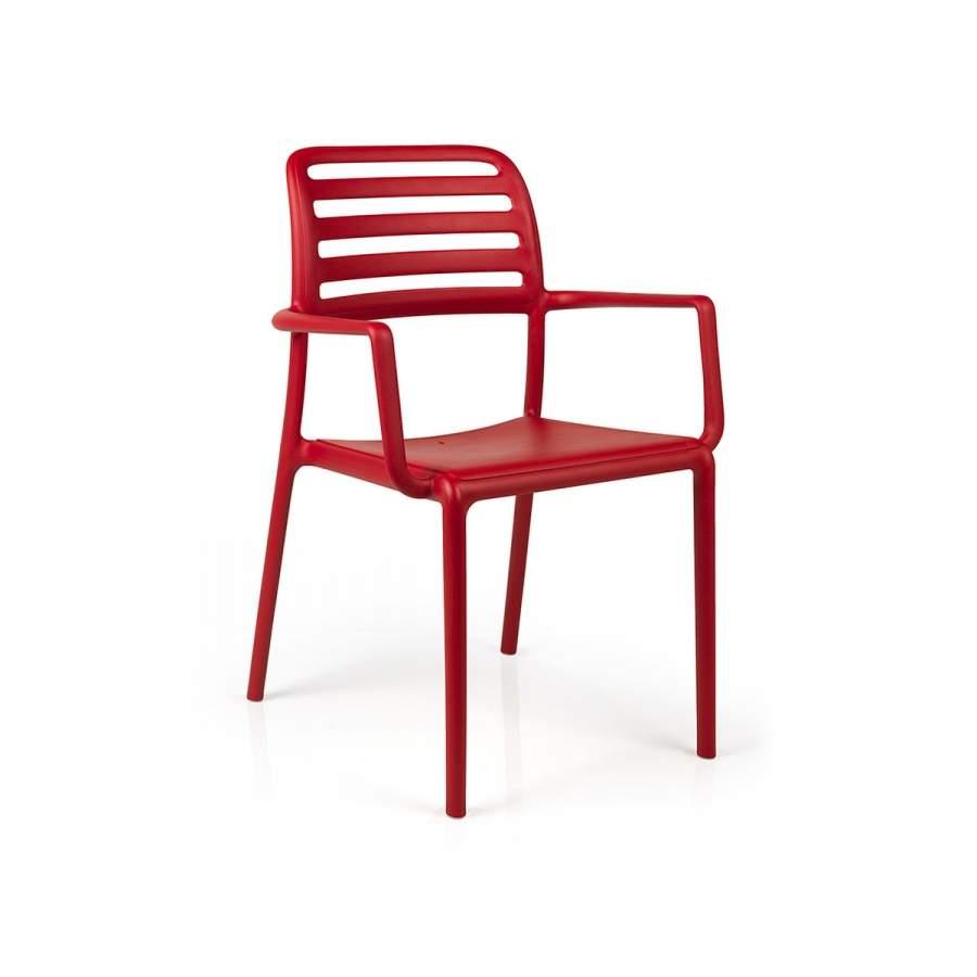 Nardi Krzesło Costa czerwone