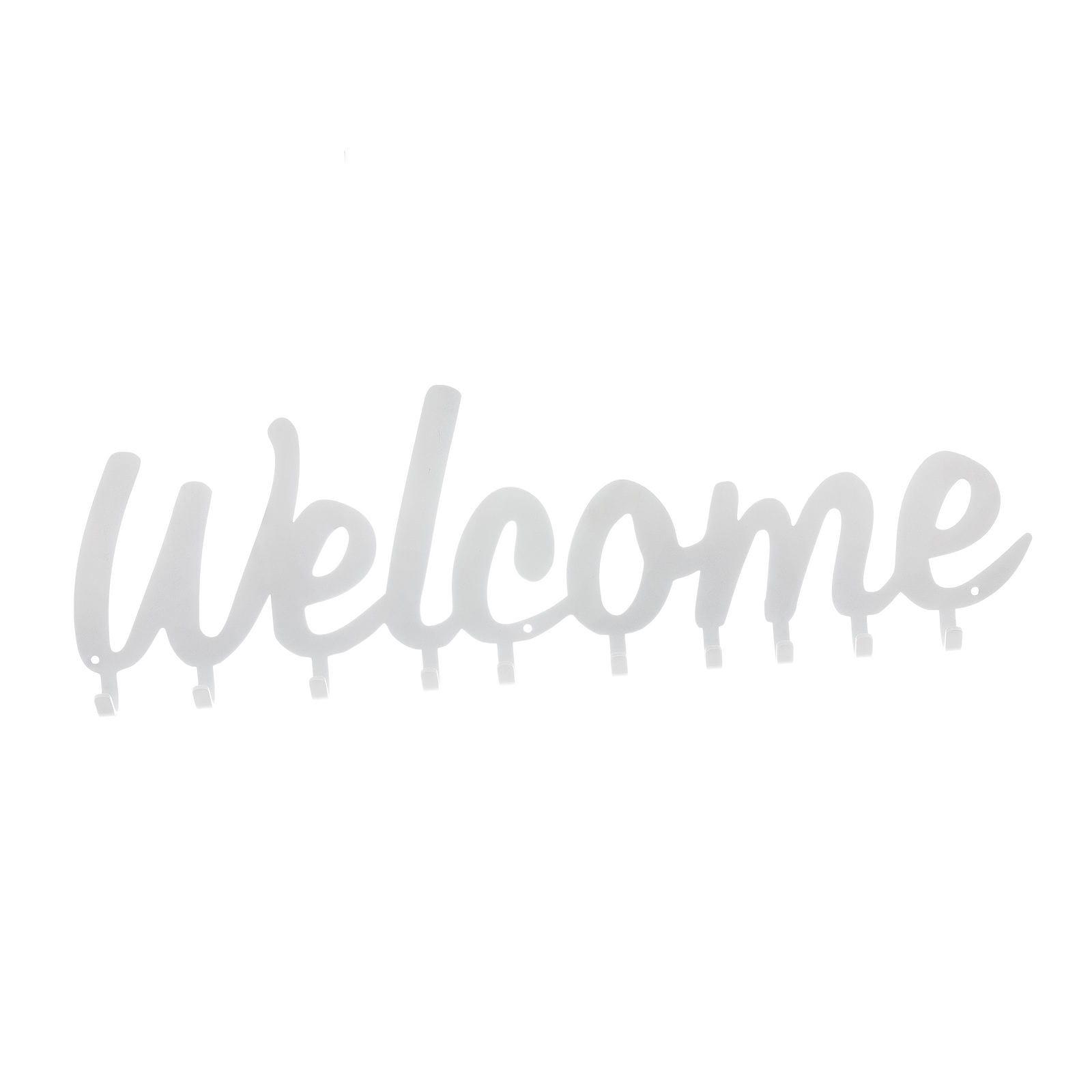 Wieszak ścienny Welcome biały