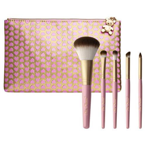 Absolute Essentials Teddy Bear Hair 5 Piece Brush Set - Zestaw pędzli