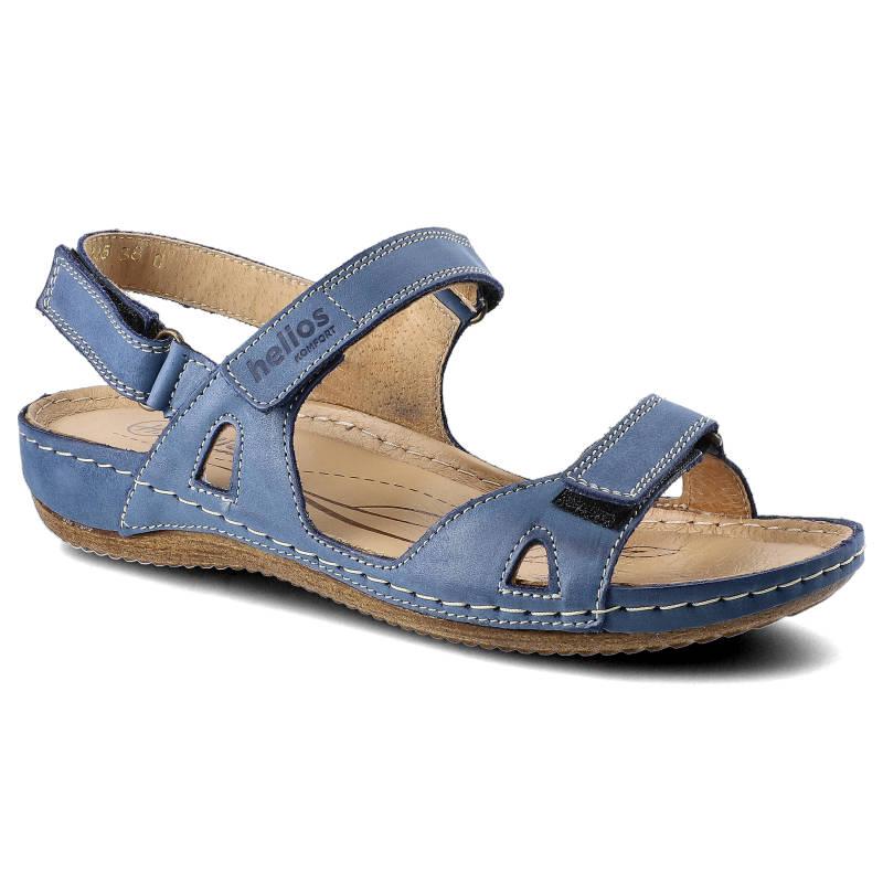 Sandały HELIOS 205 Granat rozmiar 37