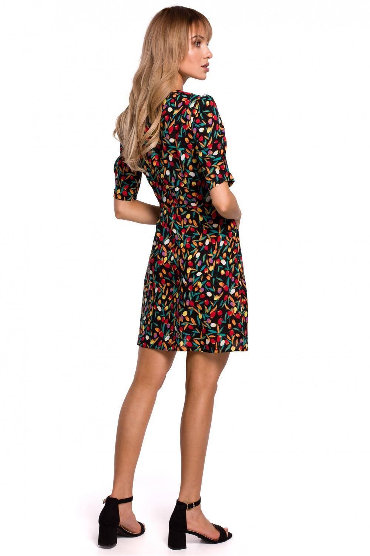 Sukienka Krótka sukienka we wzór w kwiaty na lato 2
