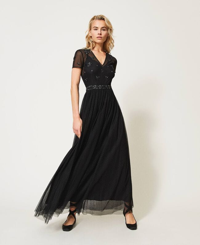 Sukienka Tiulowa sukienka maxi Twinset