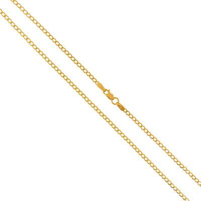 RICA złoty łańcuszek pancerka delikatny 585