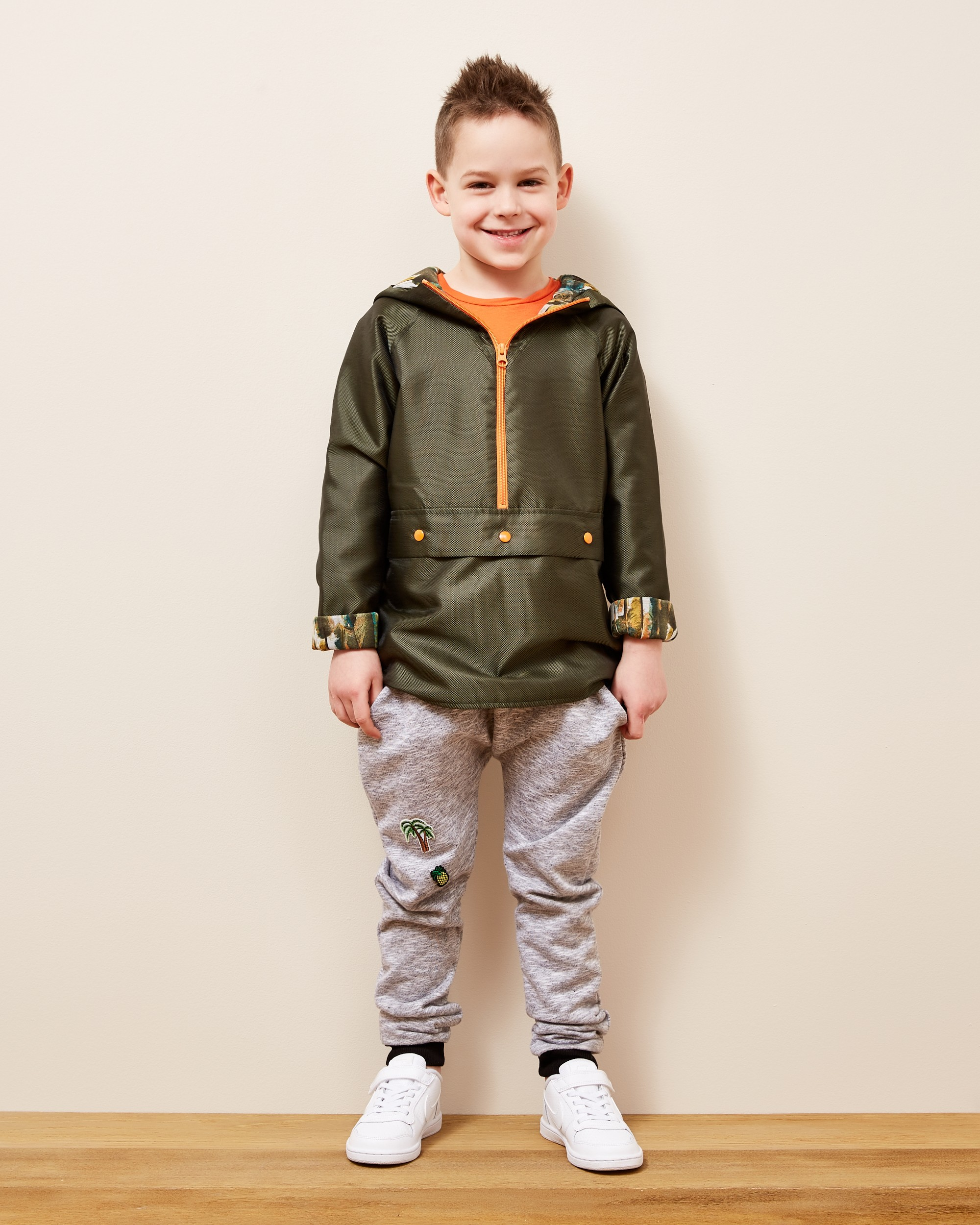 Kurtka Green Leaf Popover Jacket - 105594