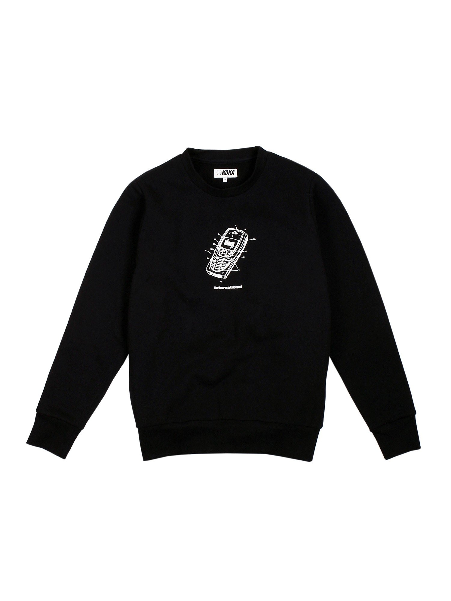 Bluza Crewneck Mobile Black - 71245