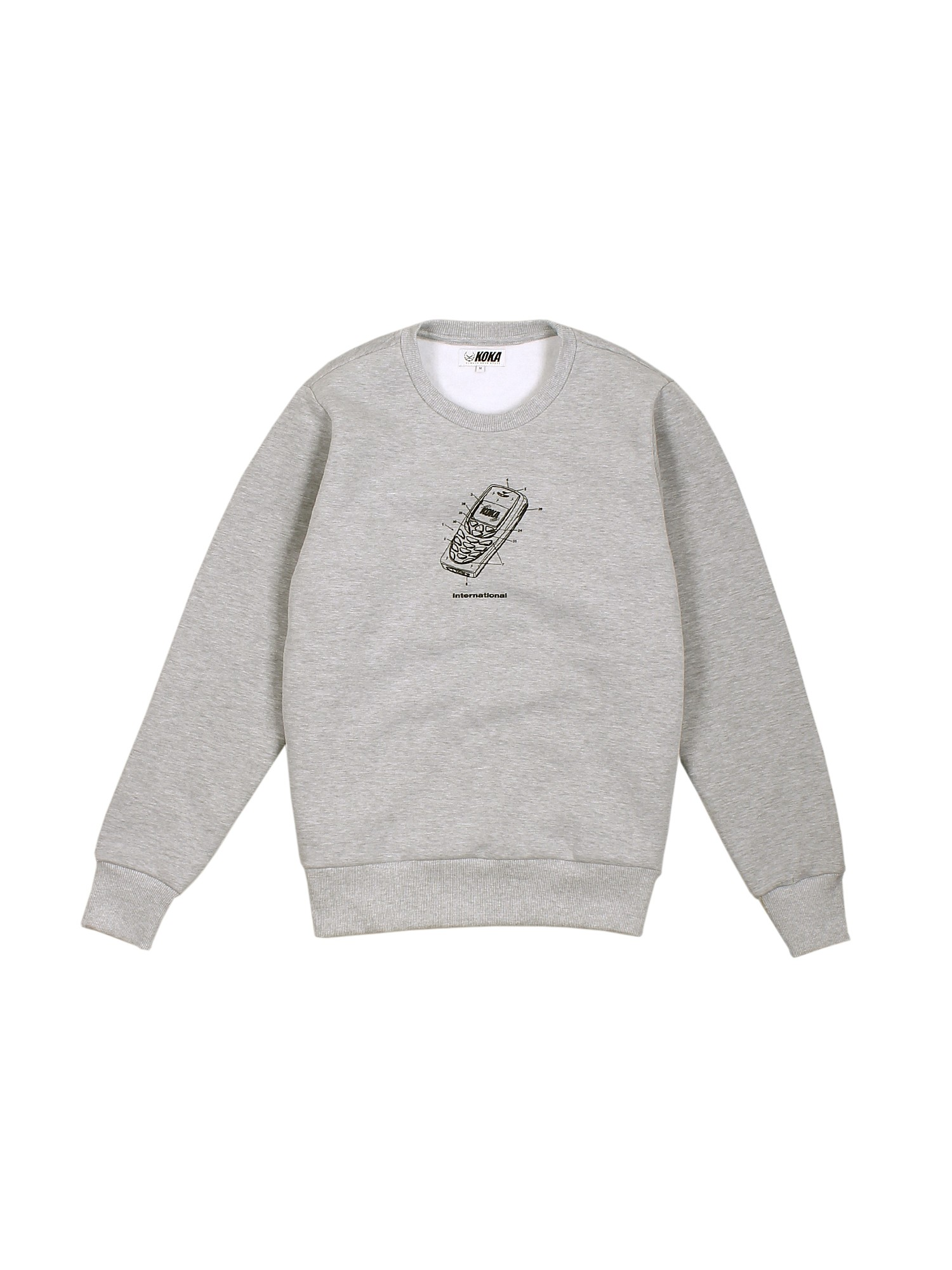 Bluza Crewneck Mobile Heather Grey - 71246