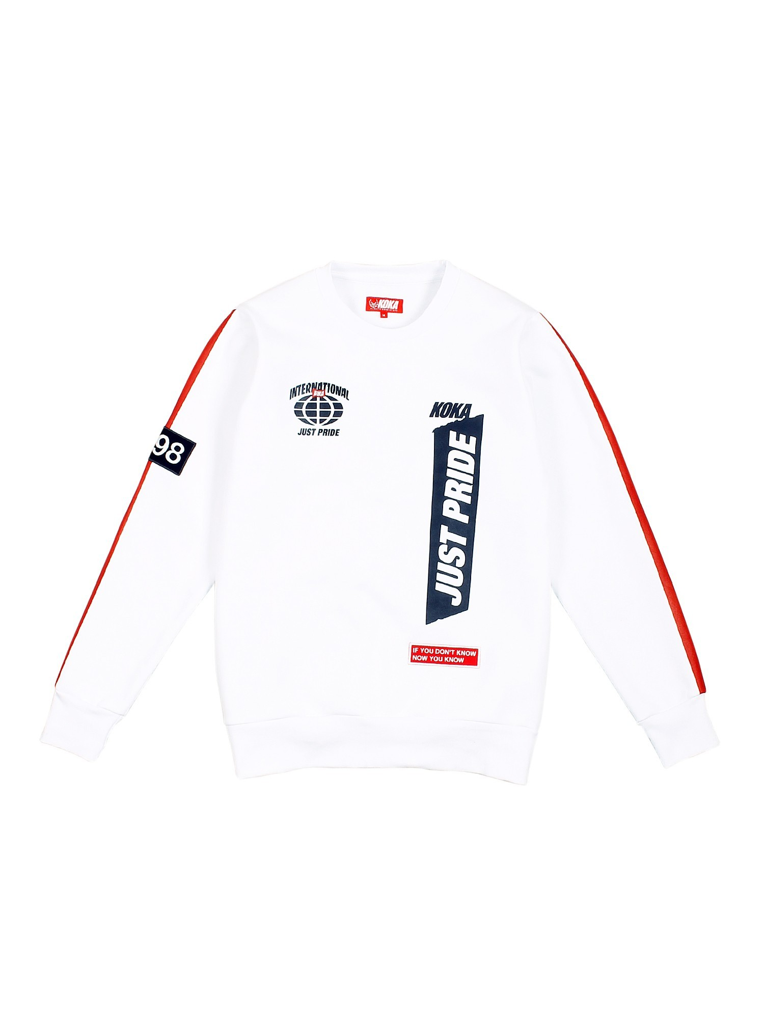 Bluza Crewneck Supporter White - 71248