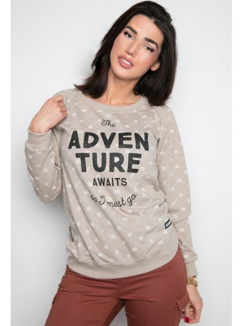 Bluza Adventure Awaits Crewneck Damski - 92345