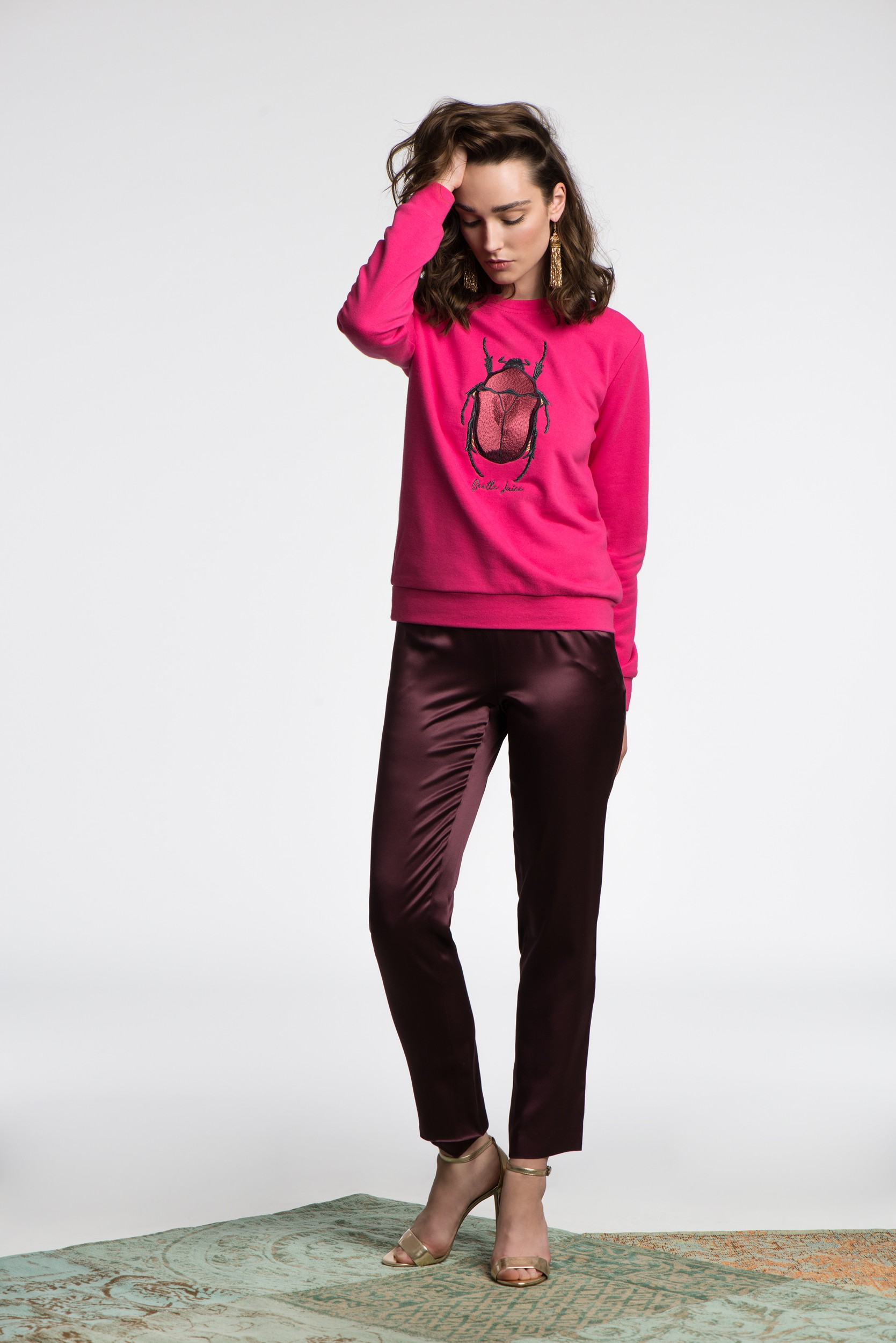 Bluza The Beetle Magenta - 113005