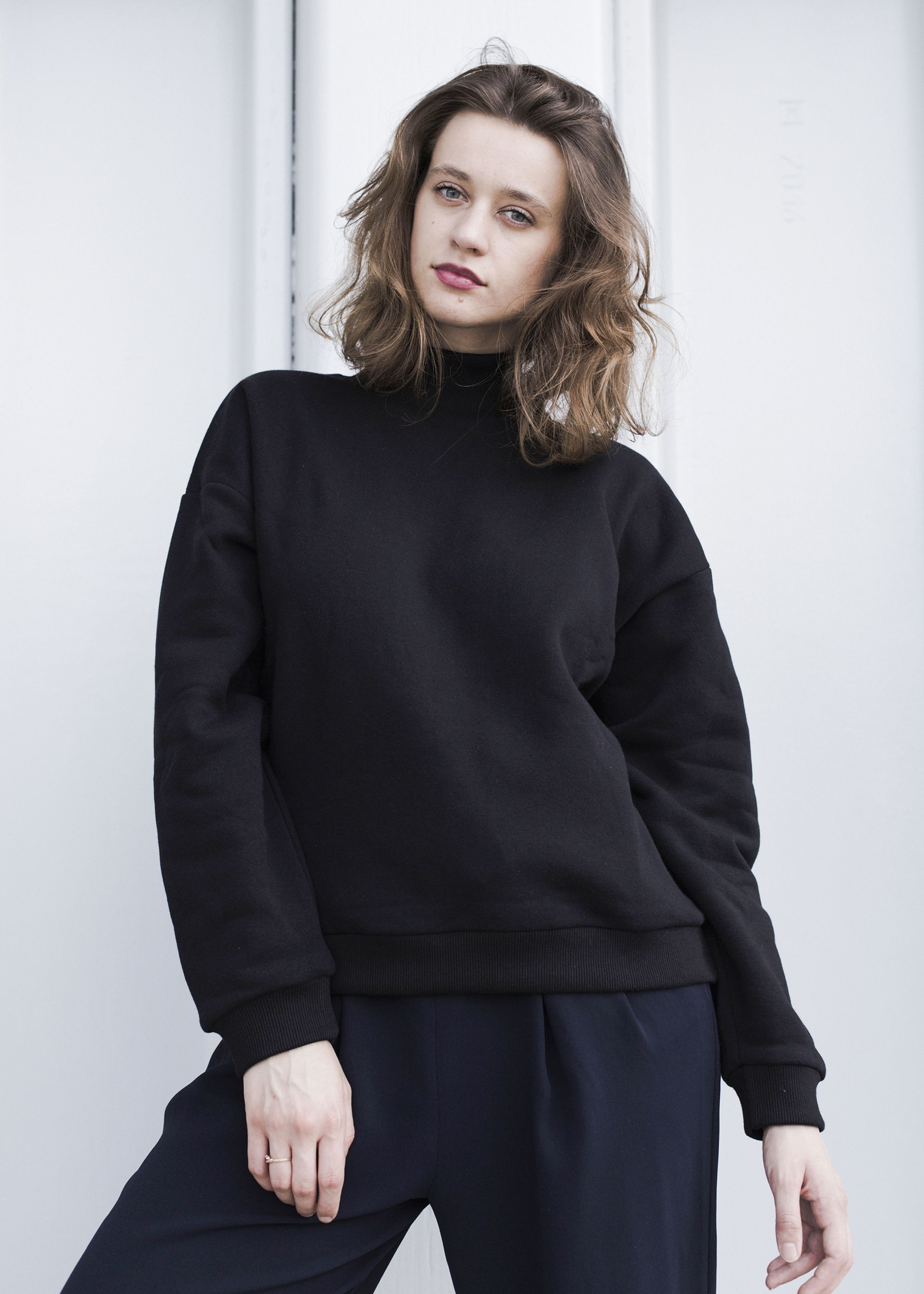 Bluza Oversized Turtleneck in Black - 118491