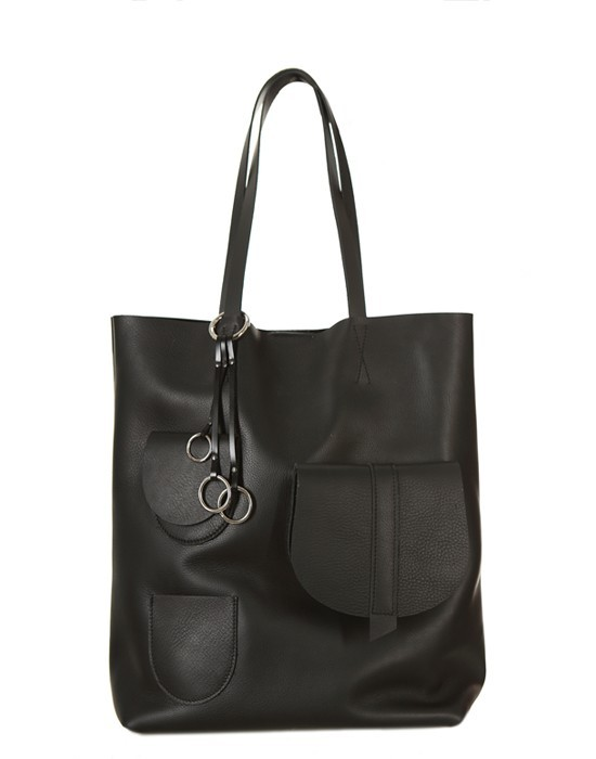 Torba skórzana Premium Sugar Tote Man in Black - 96208
