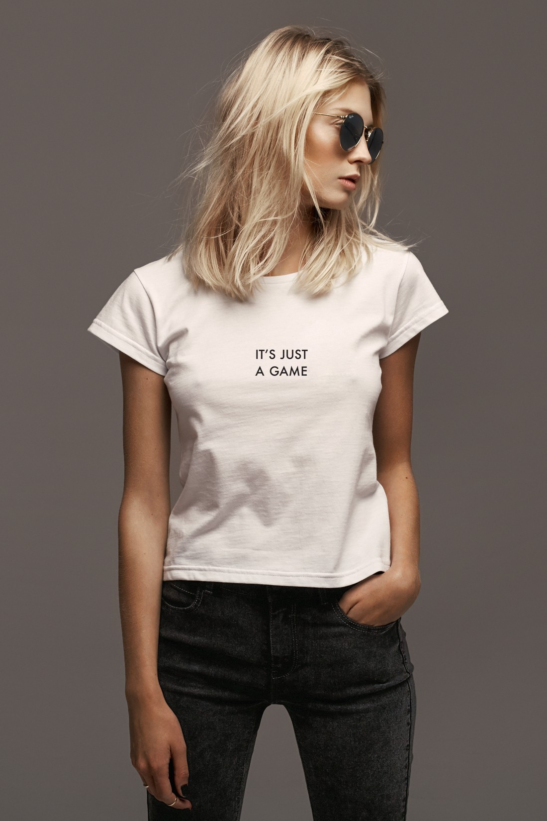 T-shirt it's just a game - 90486