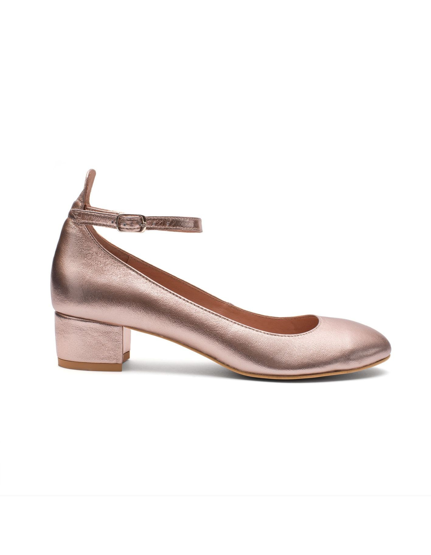 Baleriny Mary rose gold - 104698