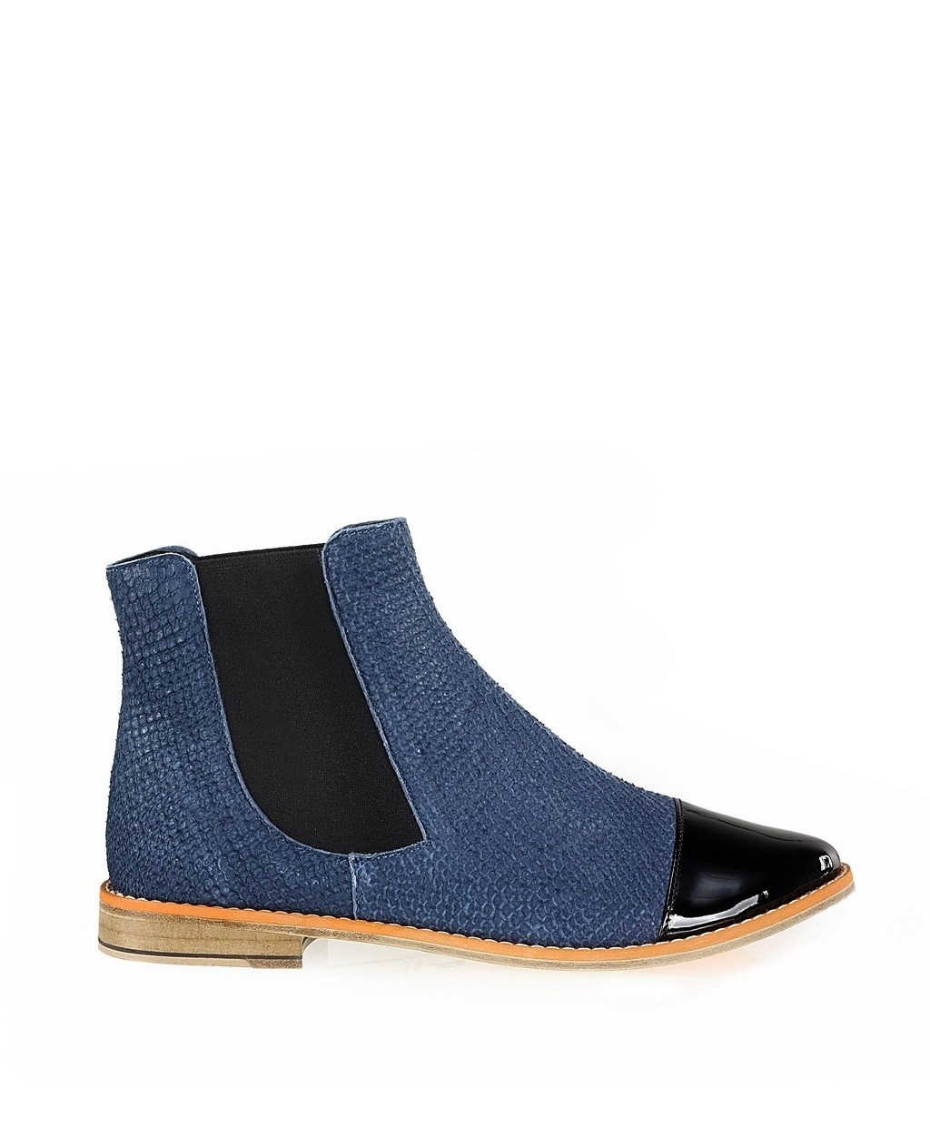 Blue Leather Chelsea Boots - 52573