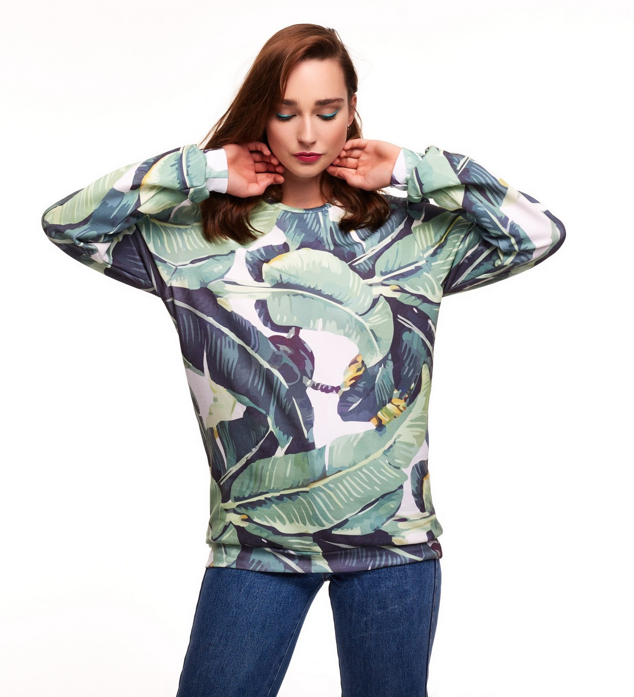 Bluza bawełniana Watercolor Jungle - 115585