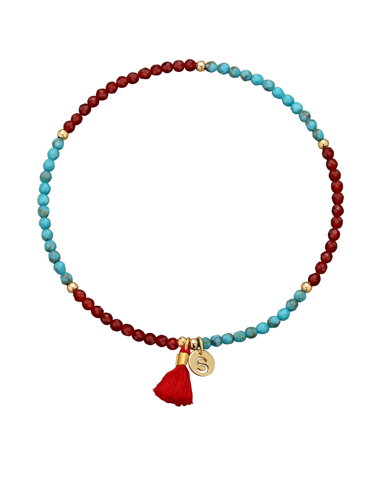 Bransoletka Block Turquoise & Red Gold - 104897