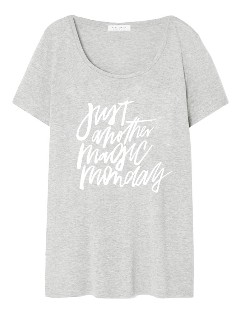 T-shirt Oversized Just Another Magiic Monday Szary - 90713