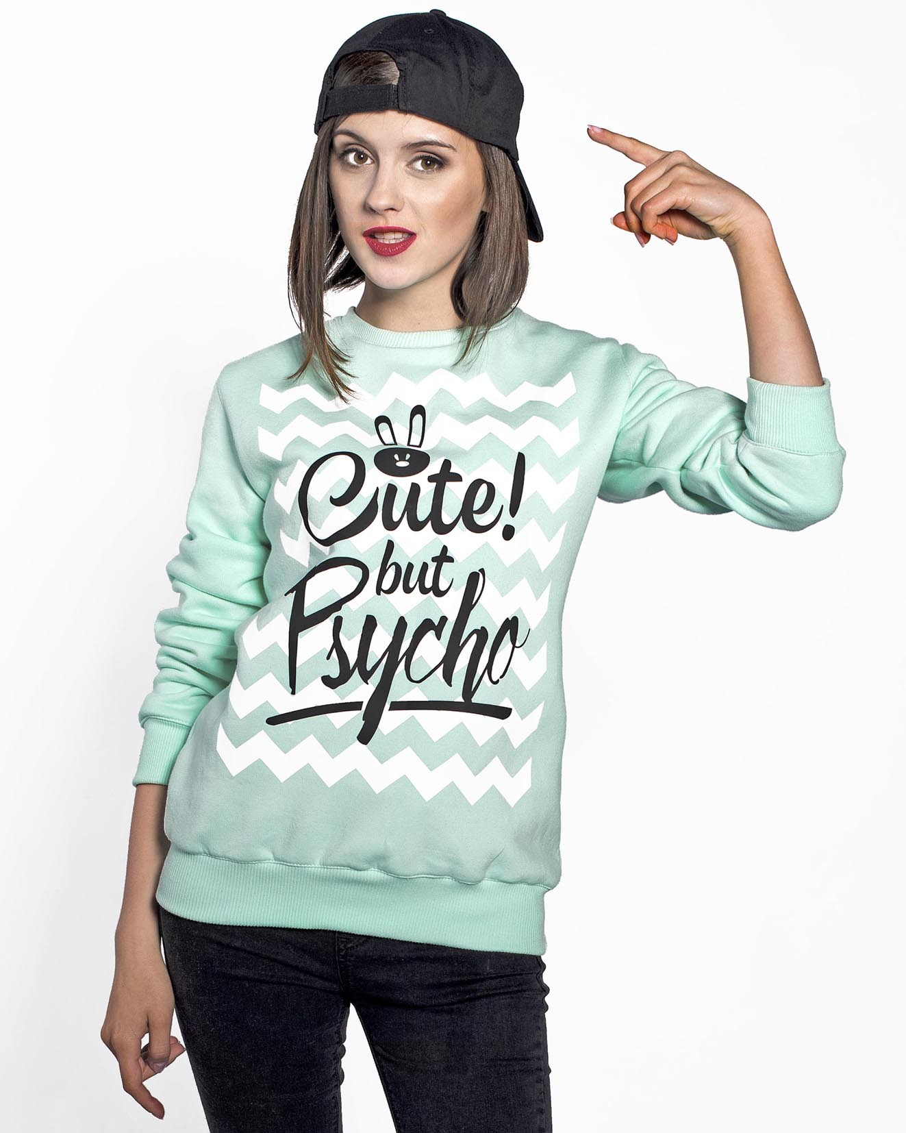 Bluza Miętowa Cute But Psycho - 61530