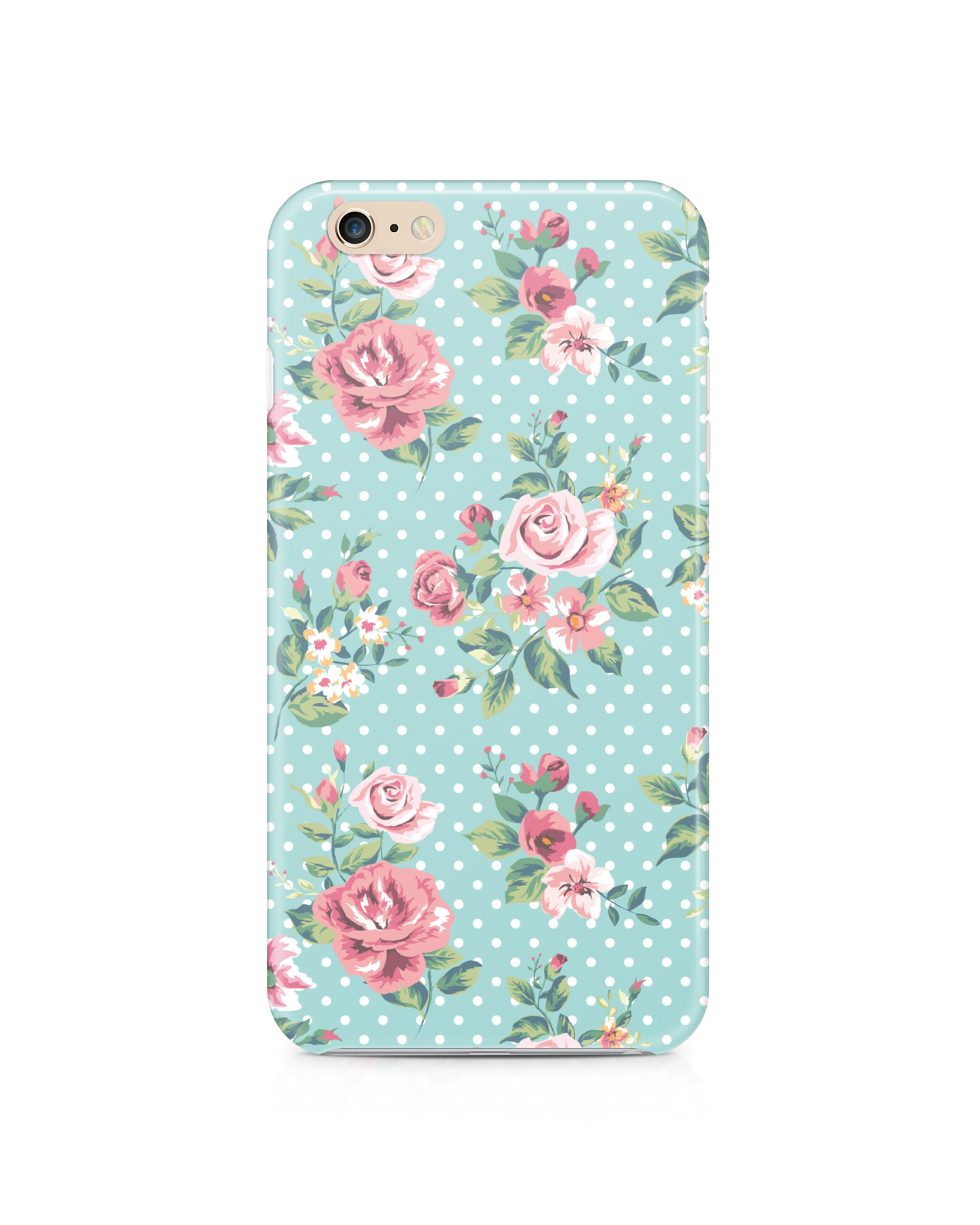 Etui iPhone Dots & roses - 27766