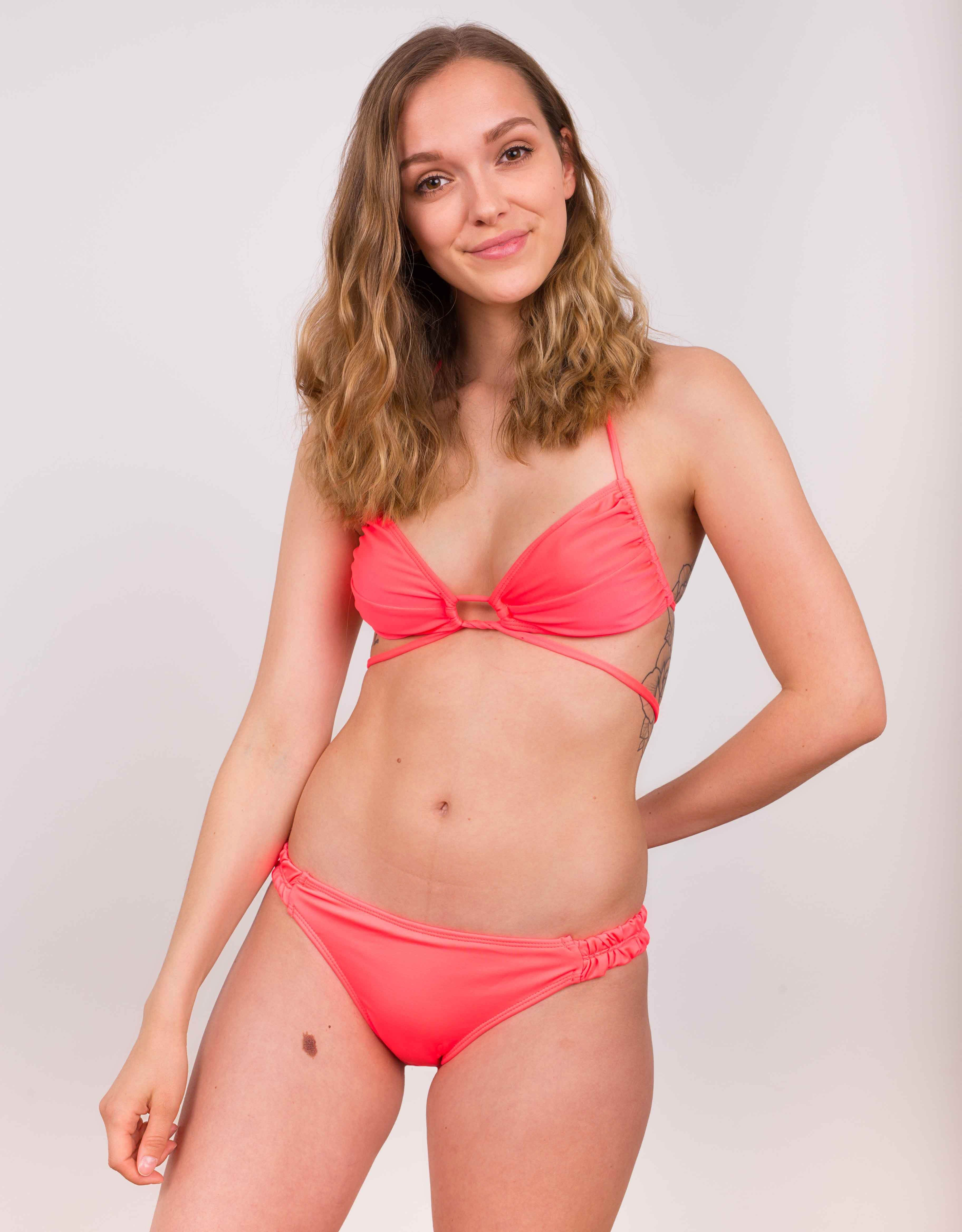 Bikini dół Flouncy Bottom orange stabilo - 106037