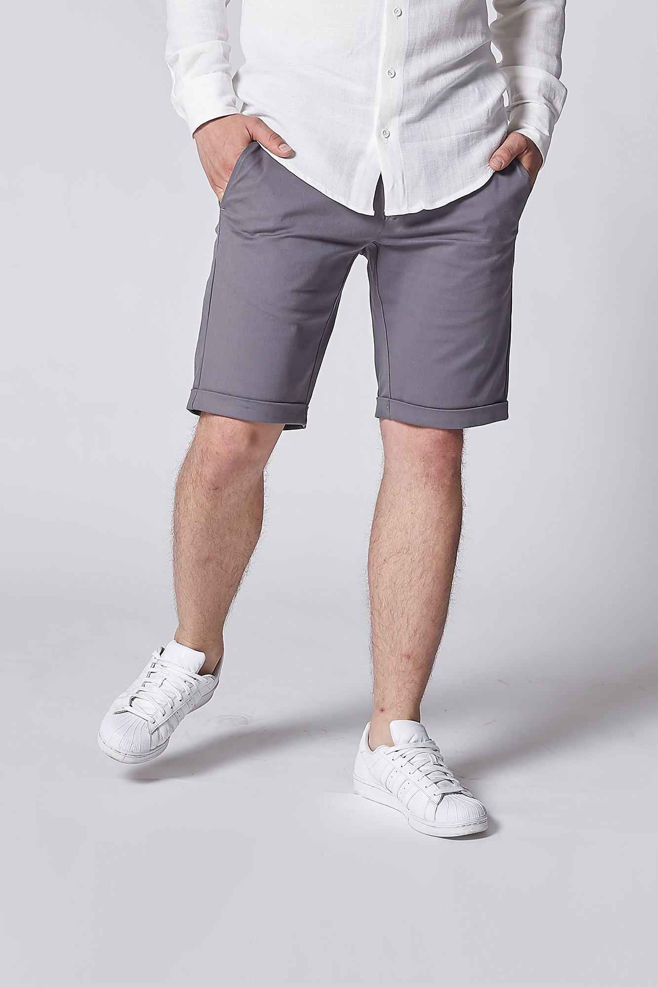 Szorty Gray Bermuda Shorts - 108595