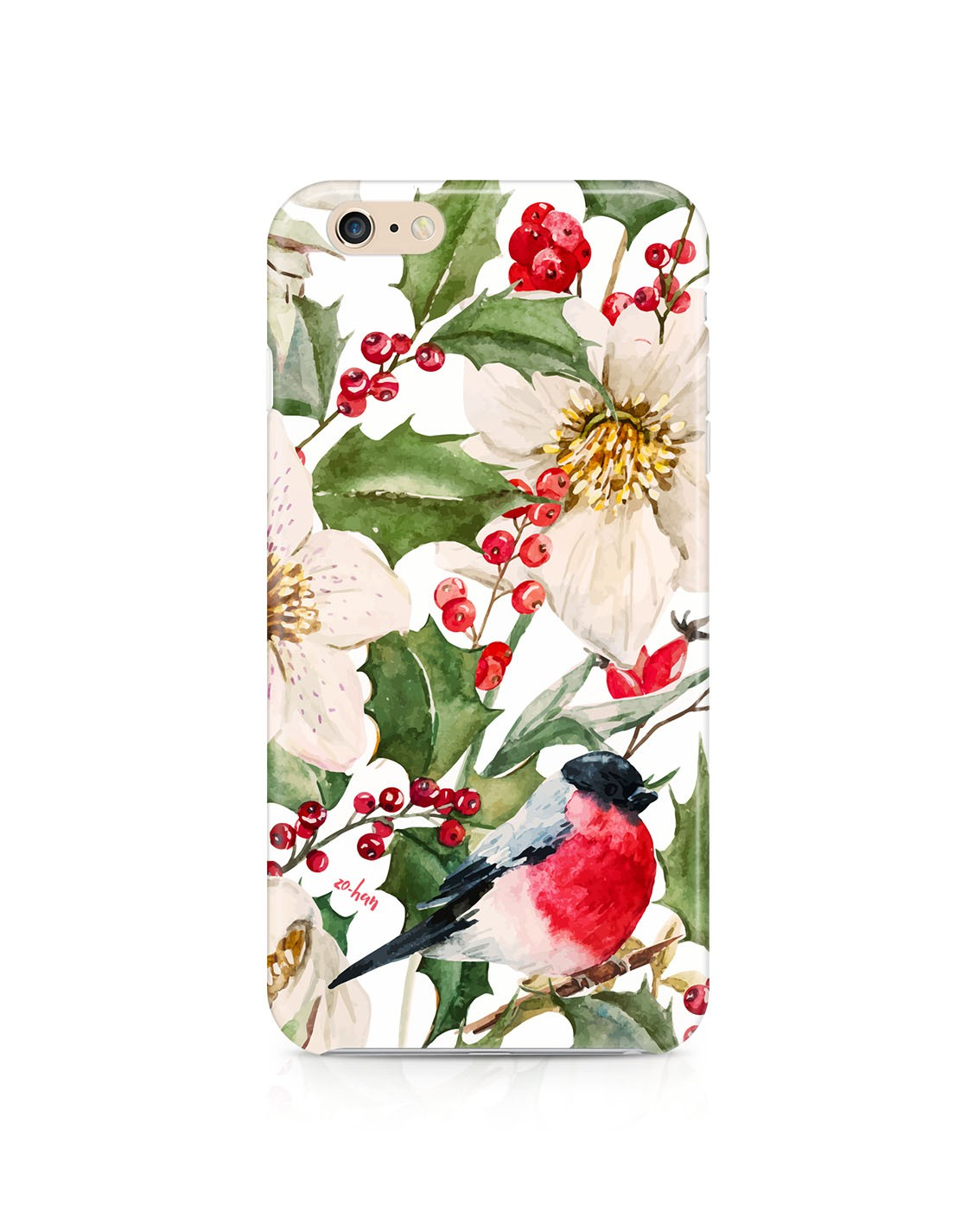 Etui iPhone Christmas poinsettia - 47149