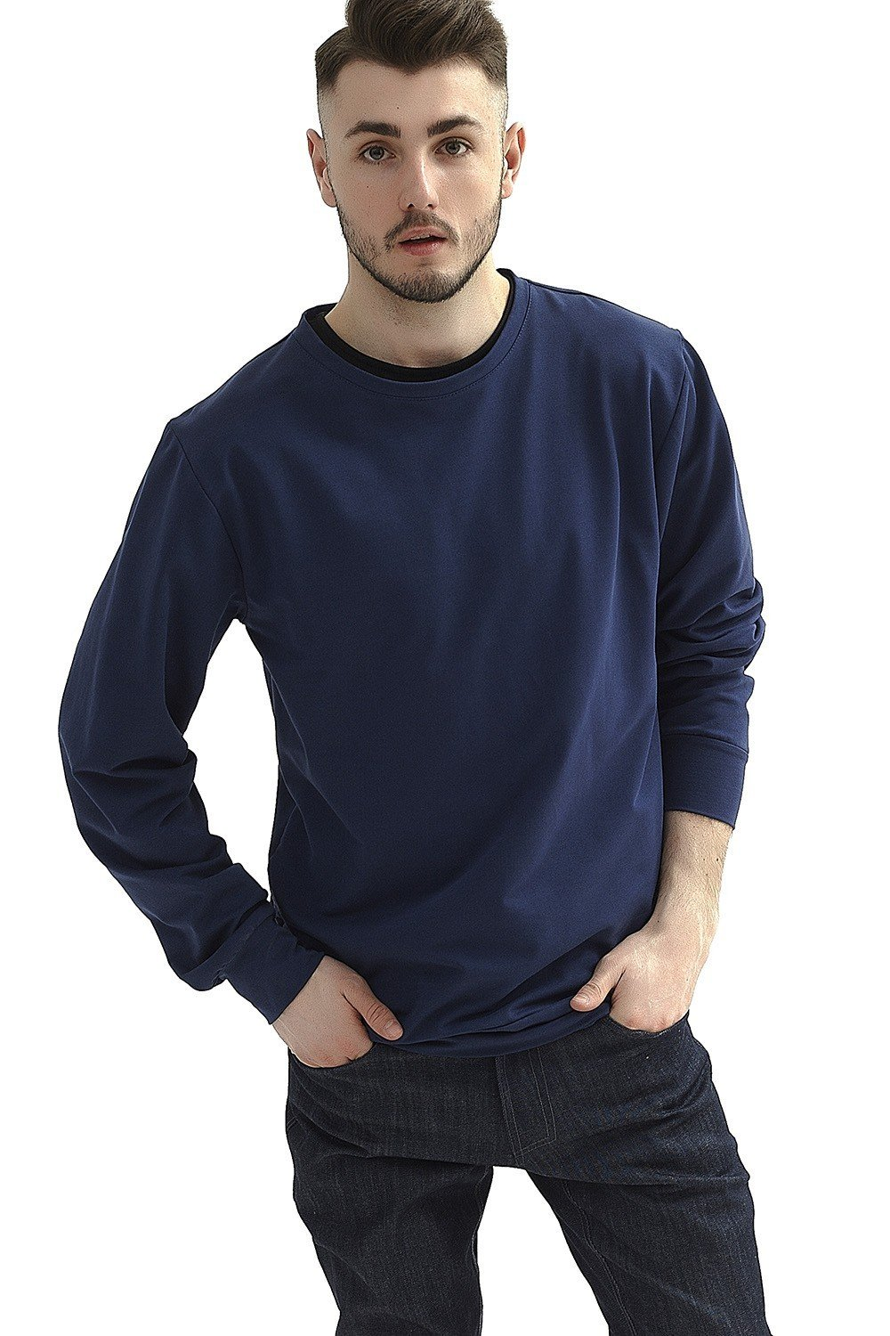 Bluza Navy Basic Crewneck - 101720