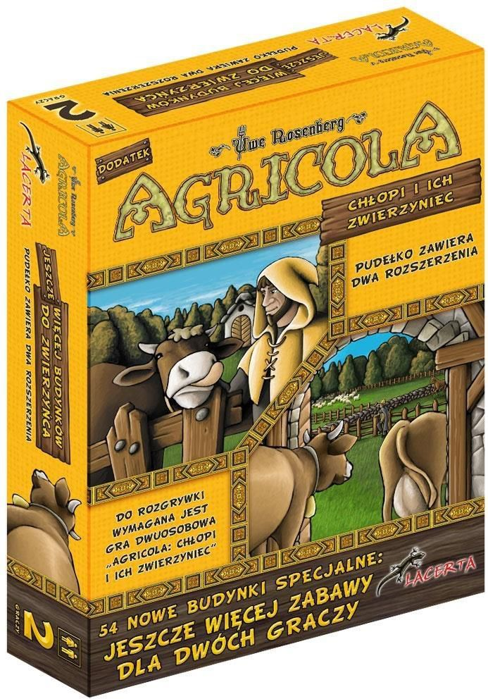 Lacerta Gra planszowa Agricola: Chłopi i ich zwierzyniec Jeszcze więcej budynków do zwierzyńca