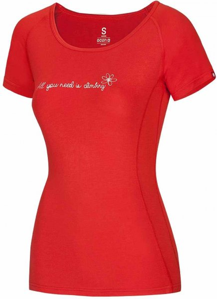 Ocun Bamboo T Flower Flame Red Xs