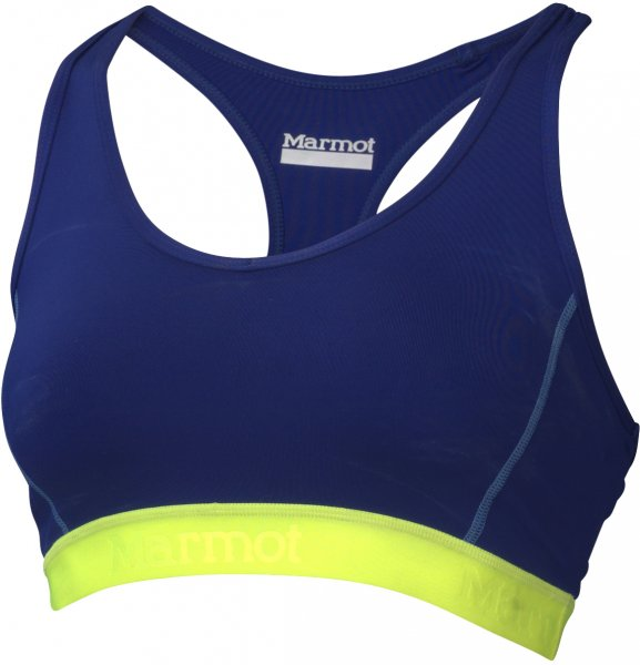 Marmot Biustonosz Sportowy Layer Up Sportsbra Midnight Purple/Hyper Yellow Xs