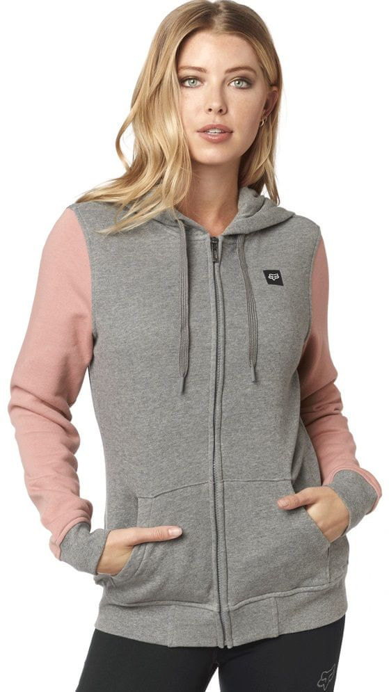 FOX bluza damska Everglade Zip Fleece L szary