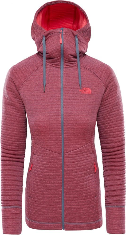 The North Face bluza damska Women'S Hikesteller Midlayer - Sg Grisaille Grey/Atomic Pink XS