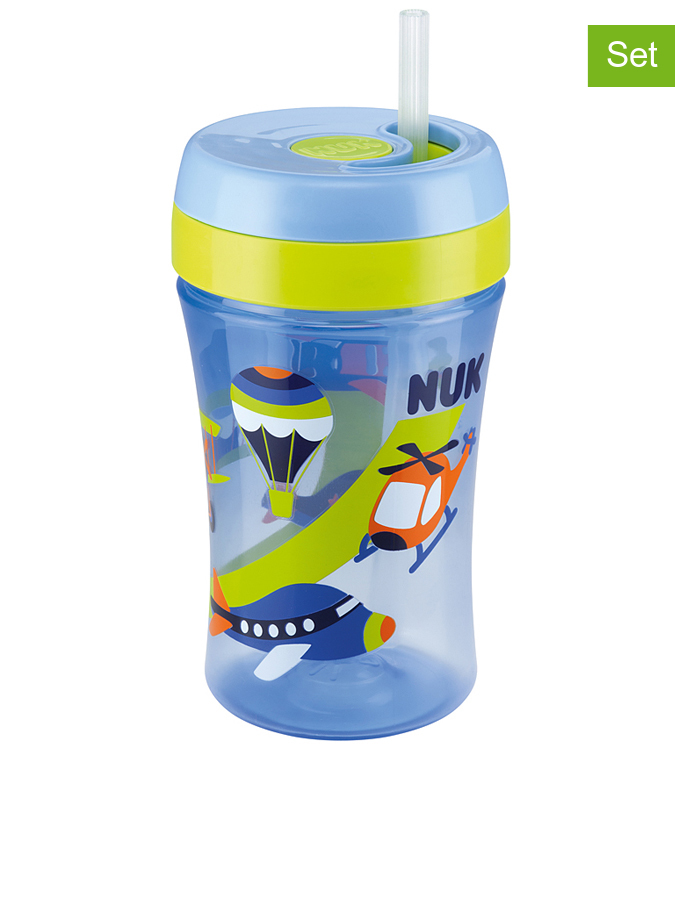 Kubek (2 szt.) &;Easy Learning Cup Fun&; w kolorze błękitnym - 2 x 300 ml - 4008600224037