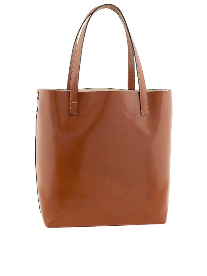 Shopper bag &;Trapani&; w kolorze koniaku - 32 x 34 x 14 cm - 889006honey