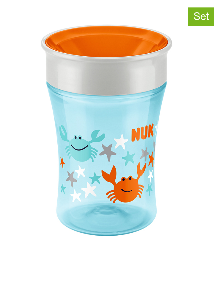 Kubek (2 szt.) &;Easy Learning Magic Cup&; w kolorze błękitnym - 2 x 250 ml - 4008600259510