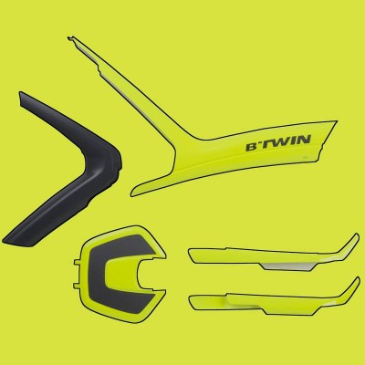 B'ORIGINAL COVER FLUO YELLOW - B'TWIN 3608409904058