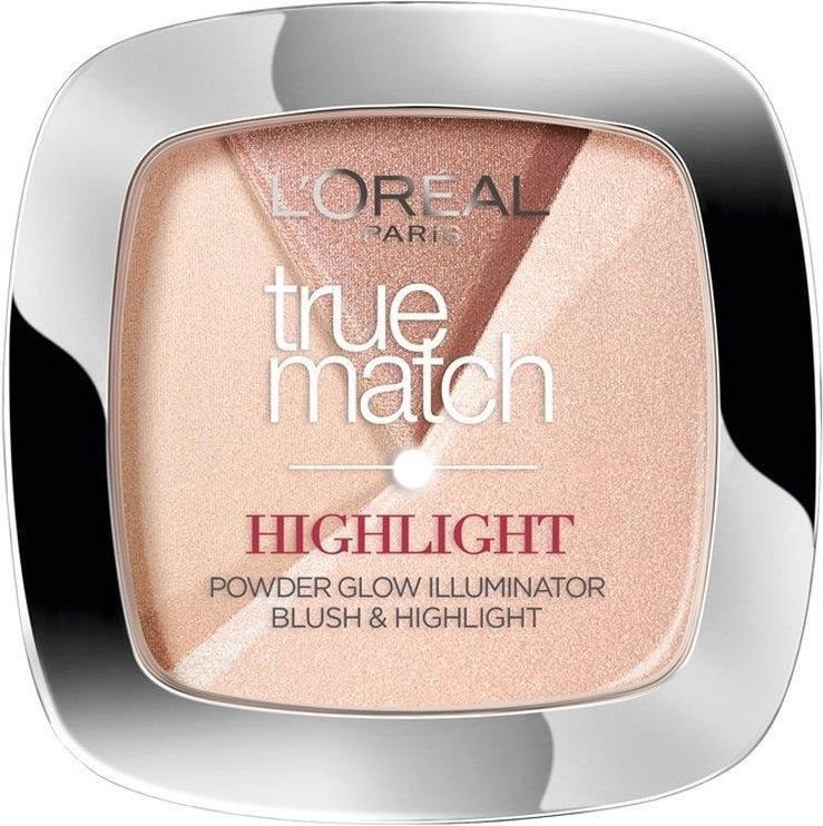 Puder Loreal True Match Highlight Powder - rozświetlający puder do twarzy 202.N Rosy Glow 9g
