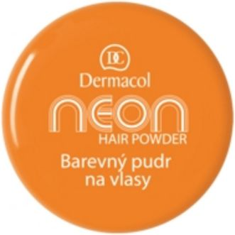 Puder Dermacol Neon Hair Powder Puder do włosów Orange 2g