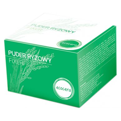 Puder Ecocera  puder ryżowy fixer 15g