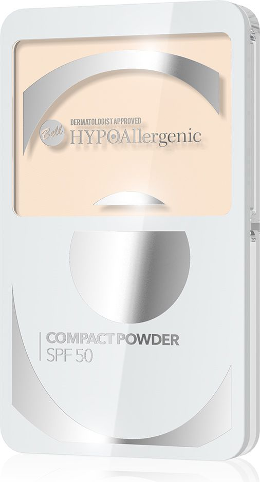 Puder BELL Compact Powder SPF 50  HYPOalergiczny puder kompaktowy  Odcień 02
