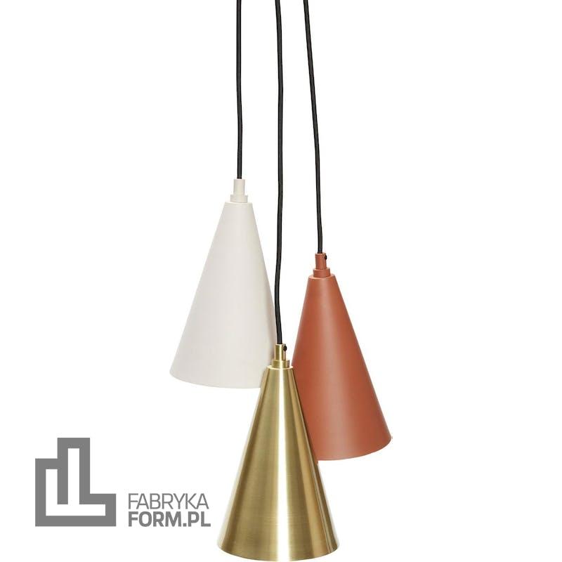 Lampa wisząca Hübsch metalowa potrójna